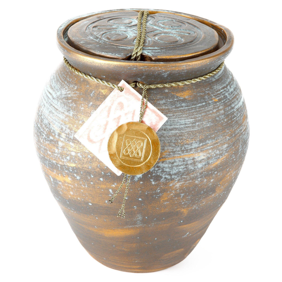 Roman Treasure Clay Cremation Ashes Urn - Urns UK