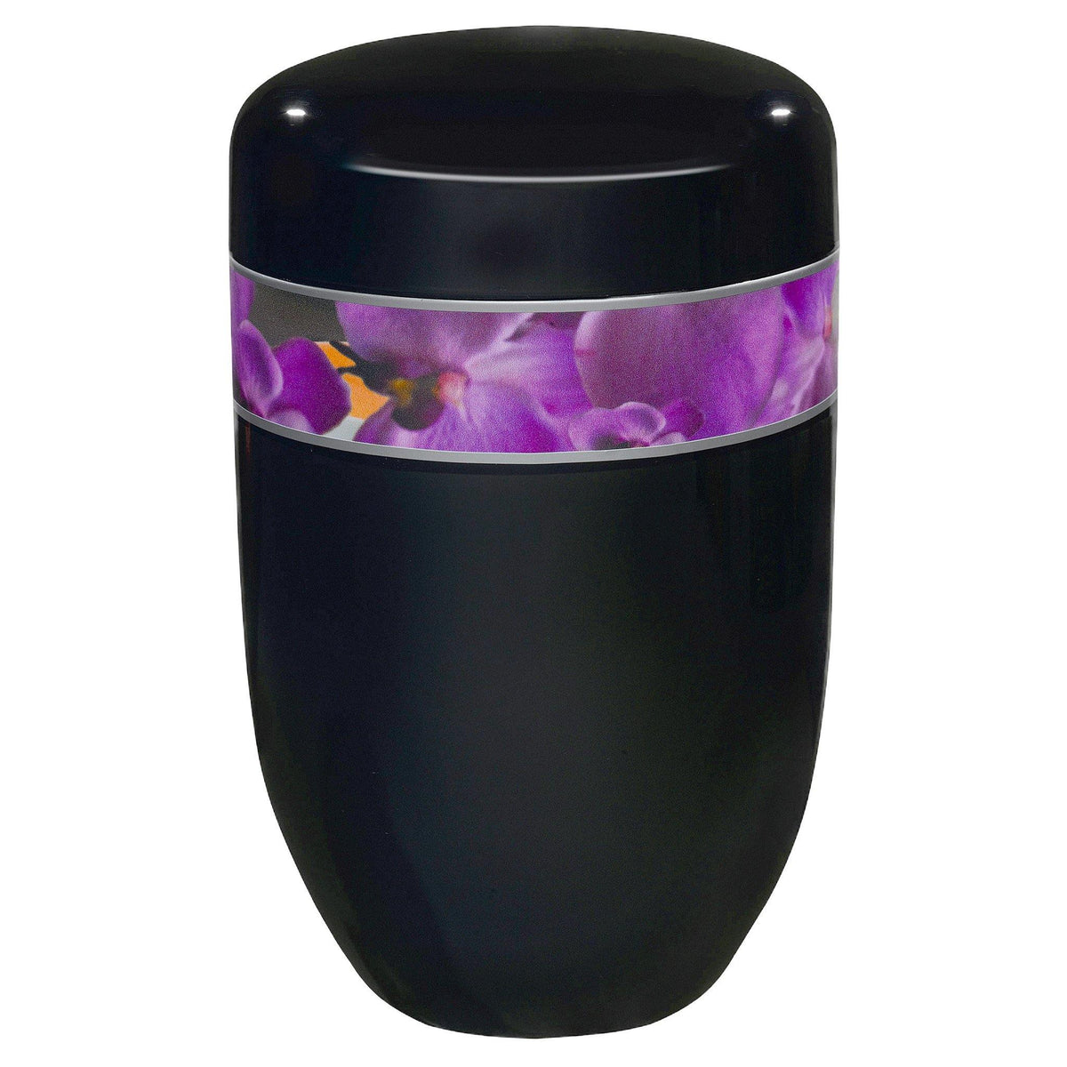 Poynton Black Orchid Cremation Ashes Urn - Urns UK