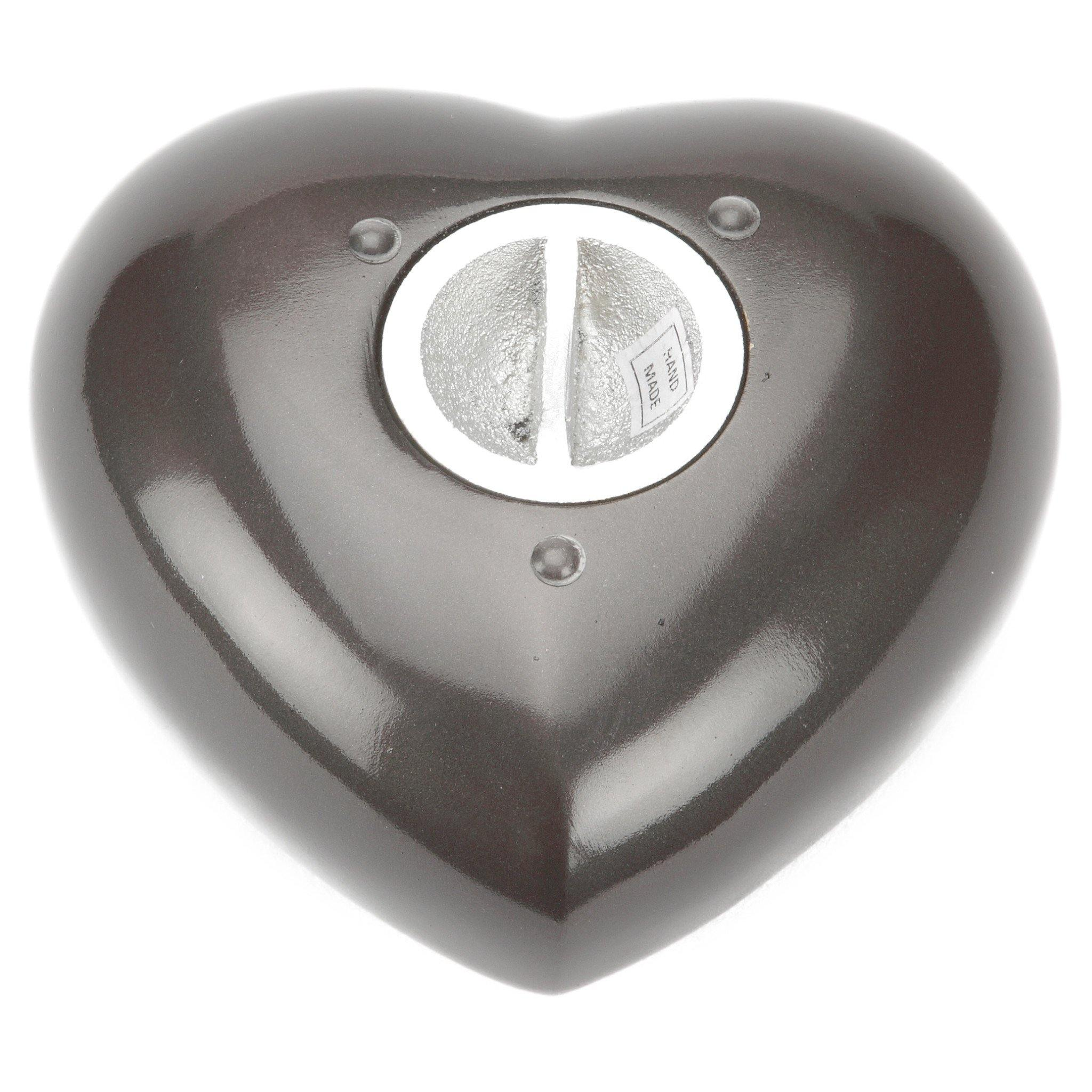 Taplow Teal Heart Cremation Ashes Keepsake Mini Urn - Urns UK
