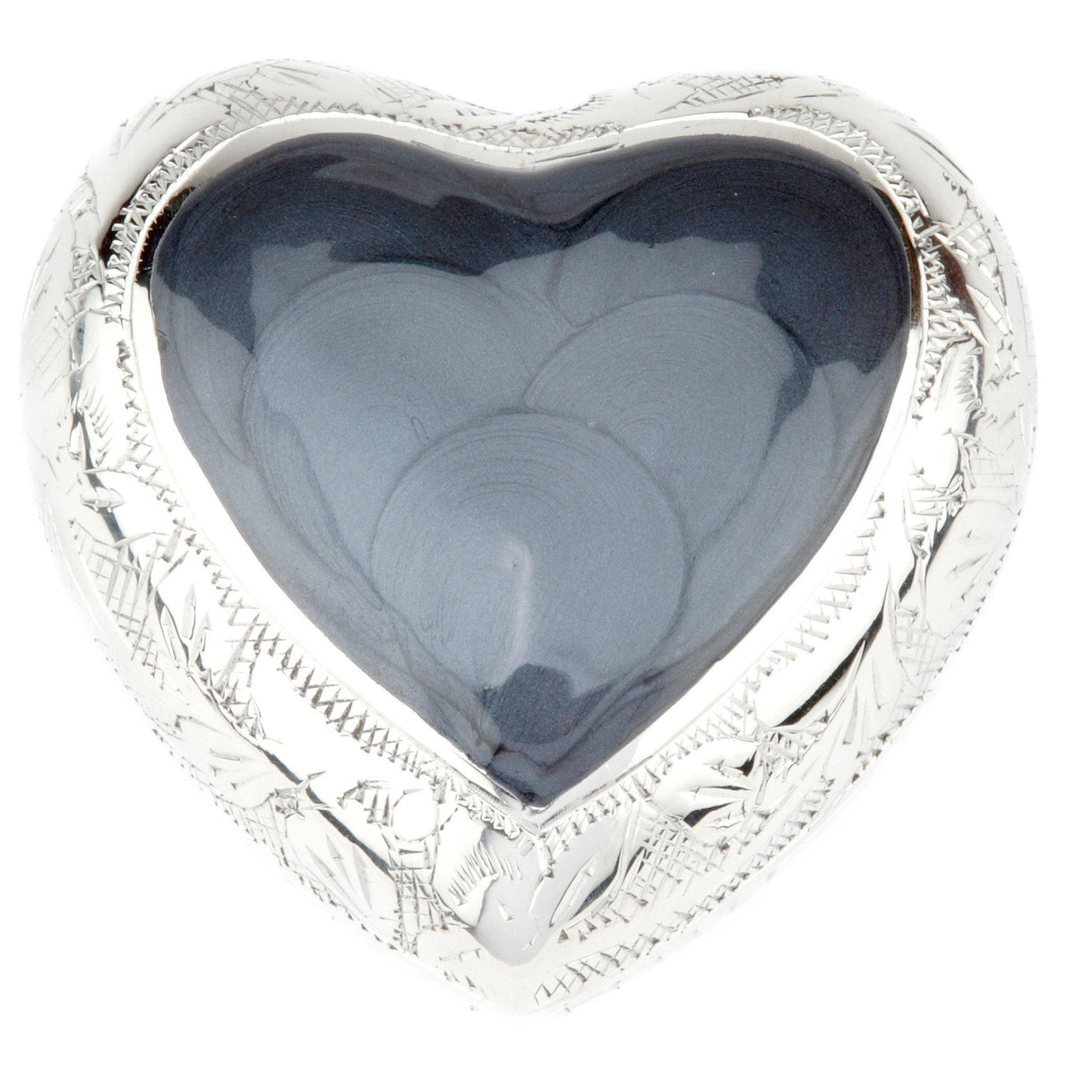 Epping Grey Heart Cremation Ashes Keepsake Mini Urn - Urns UK