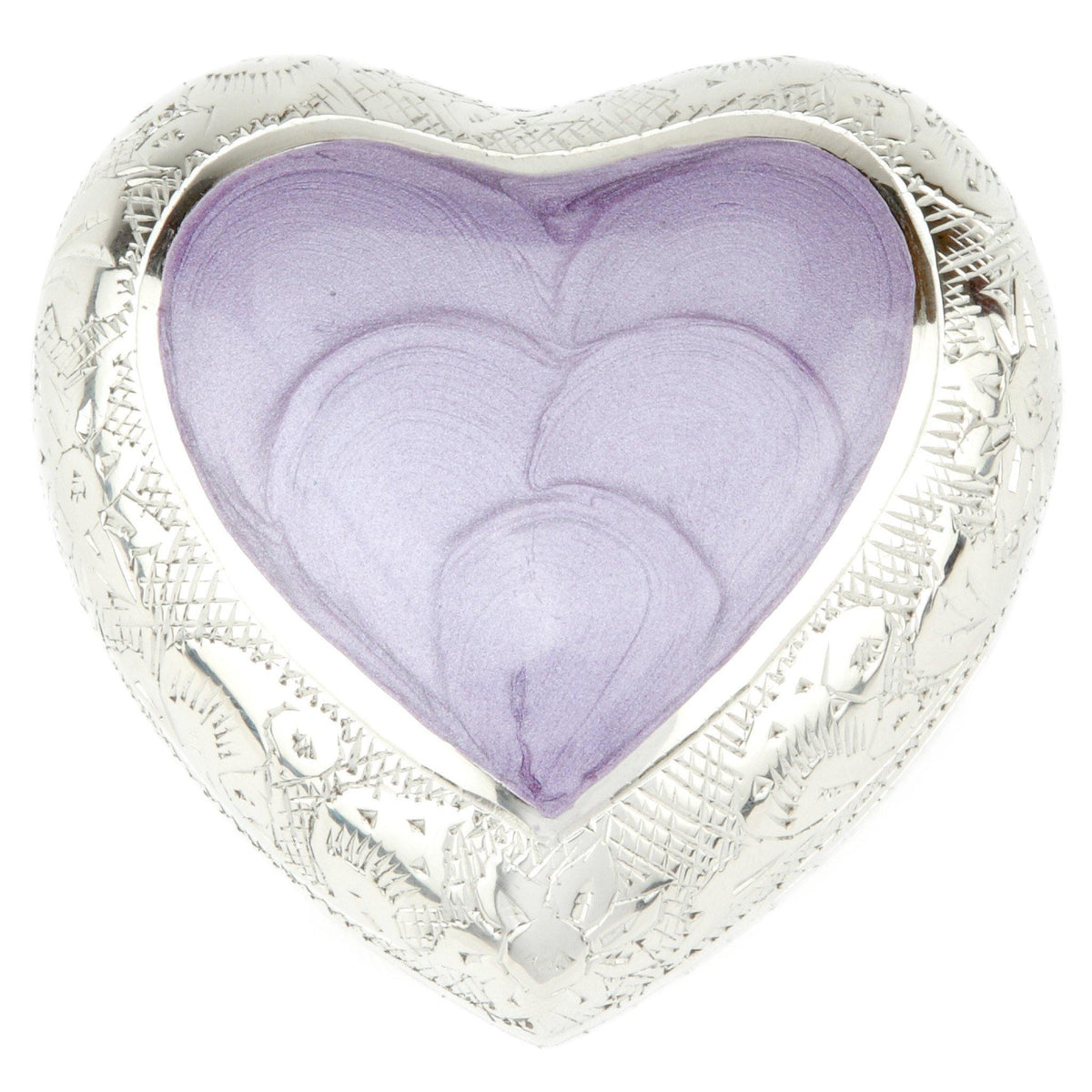 Pimlico Purple Heart Cremation Ashes Keepsake Mini Urn - Urns UK