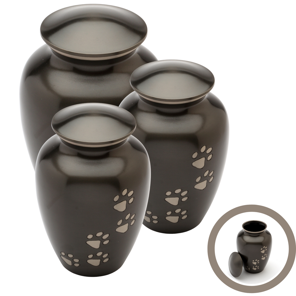 Matlock Black Cremation Ashes Pet Range - Urns UK