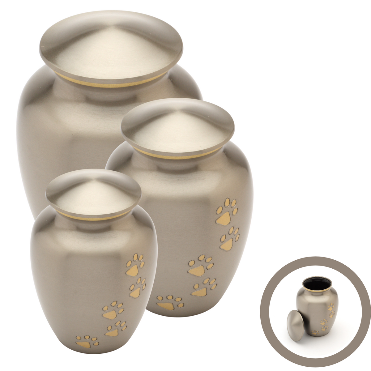 Matlock Pewter Cremation Ashes Pet Urn Range - Urns UK