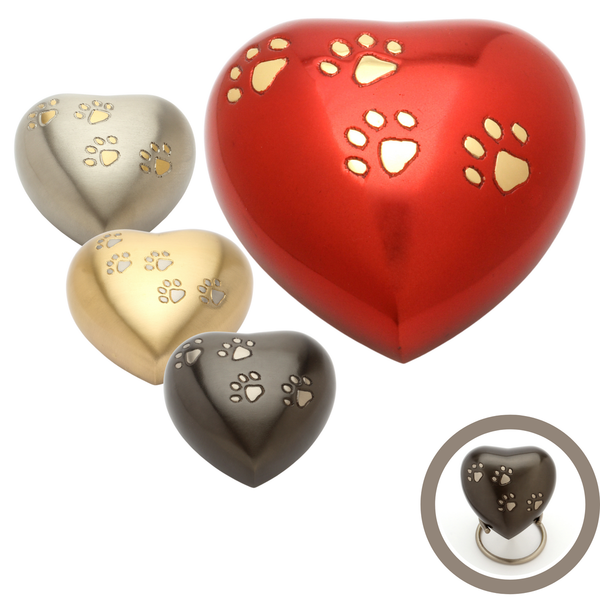 Hertford Heart Cremation Ashes Keepsake Urn Range - Urns UK