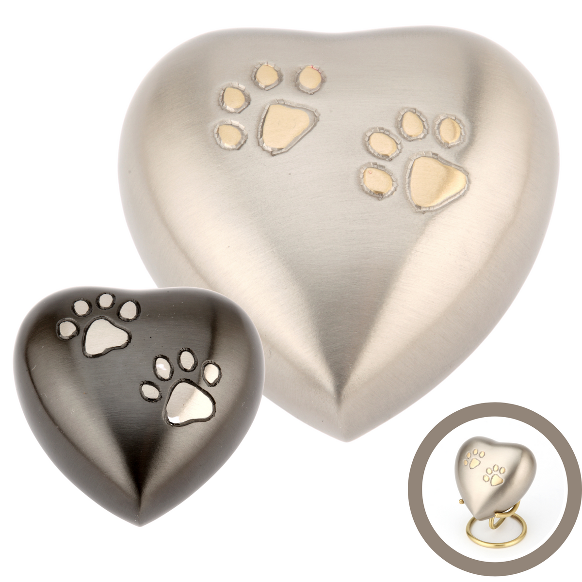 Chertsey Heart Cremation Ashes Keepsake Urns - Urns UK