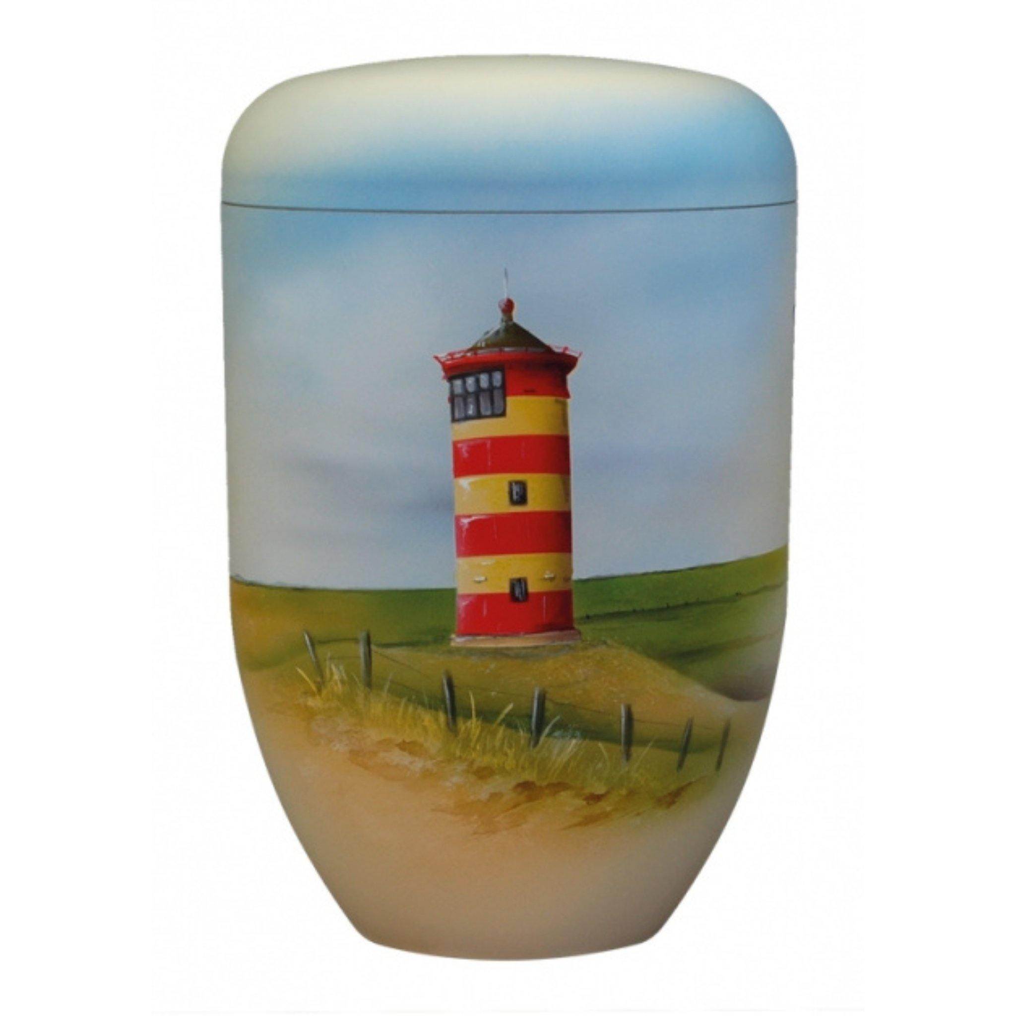 Polperro Calm Lighthouse Bio Cremation Ashes Urn - Urns UK