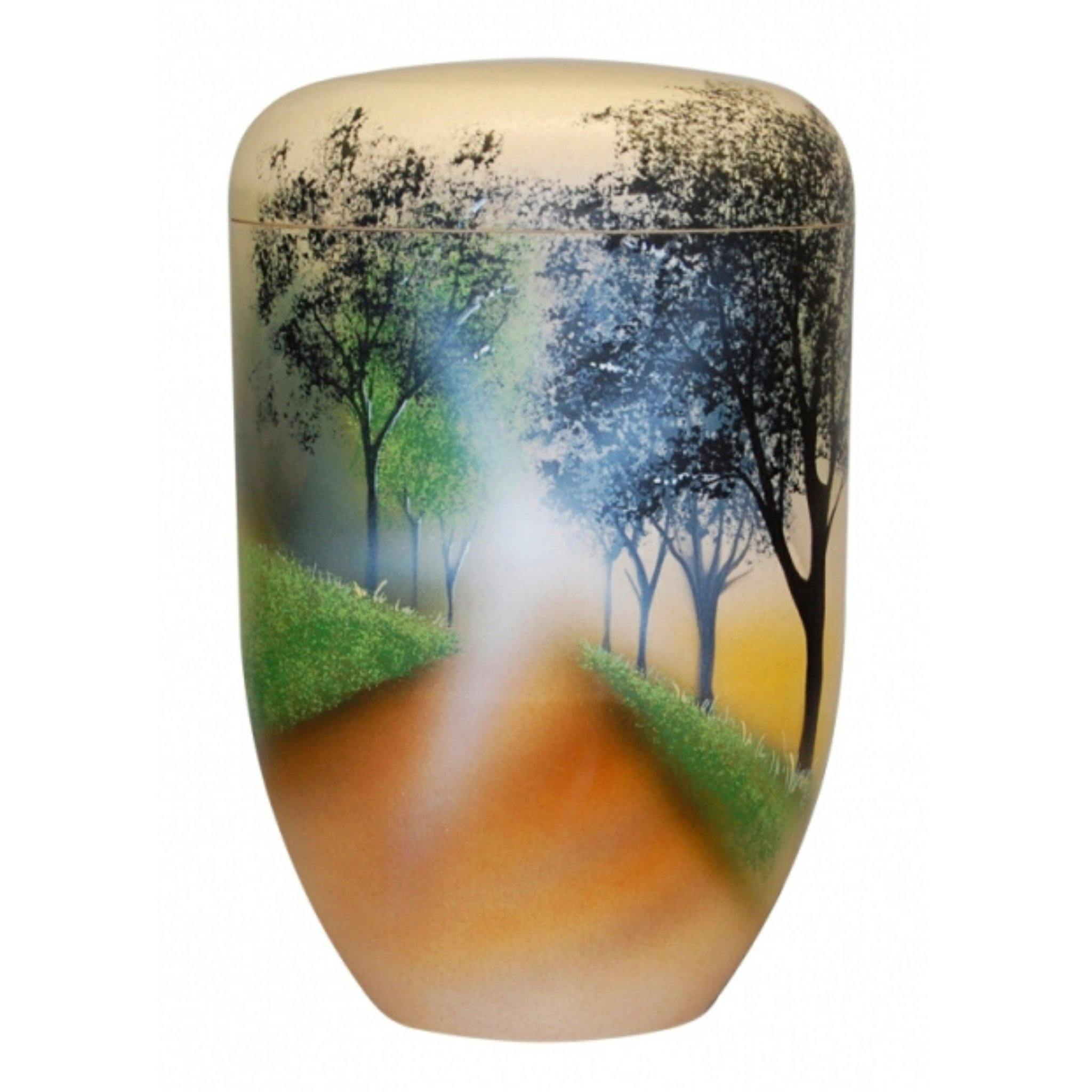 Polperro Forest Path Bio Cremation Ashes Urn - Urns UK