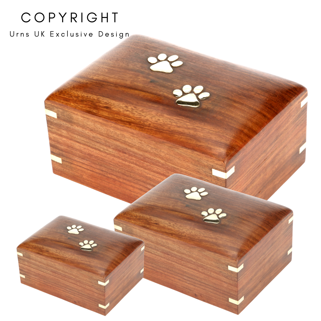 Elstree Wooden Cremation Ashes Pet Urn Range - Urns UK