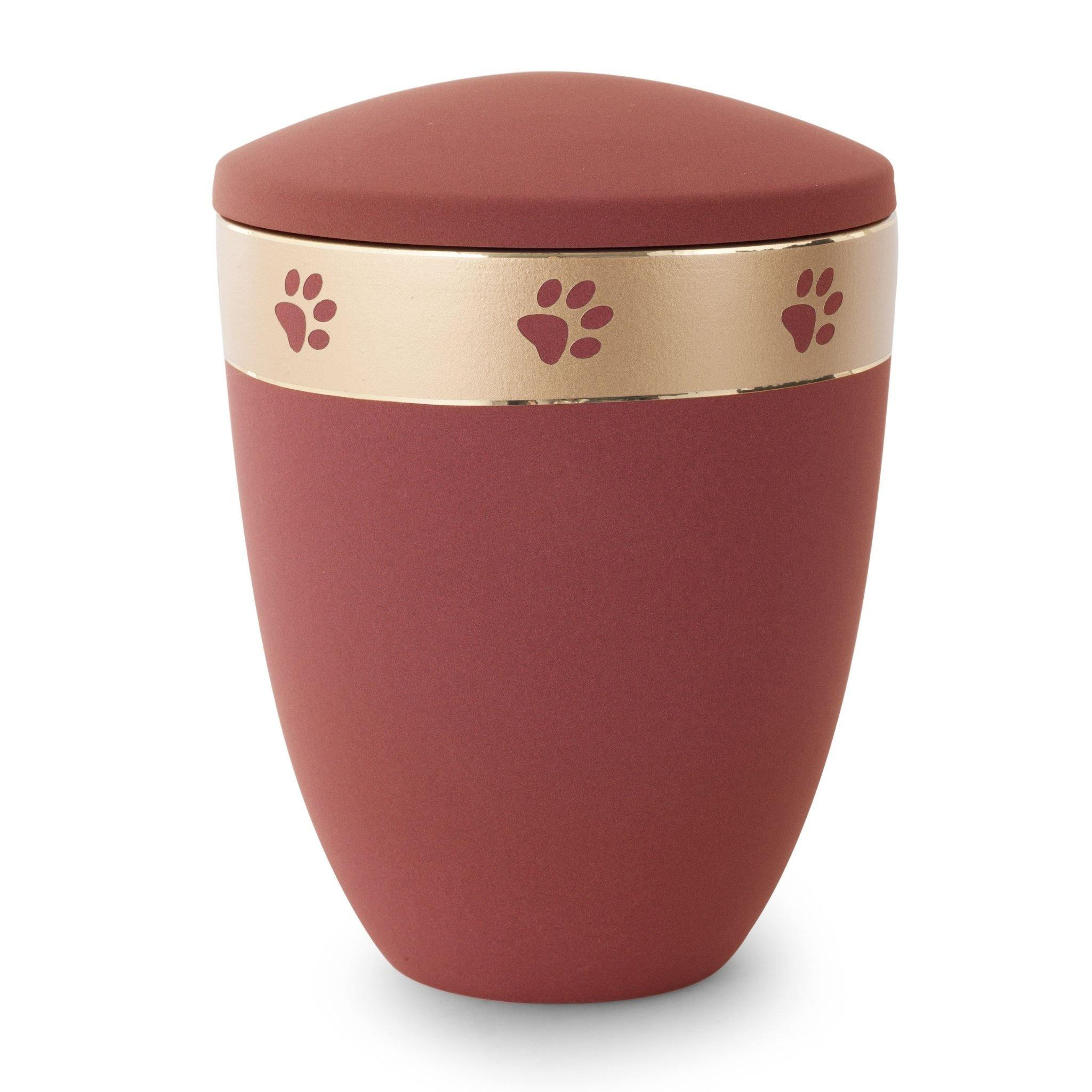 Luton Paw Rim Ceramic Cremation Ashes Urn - Urns UK