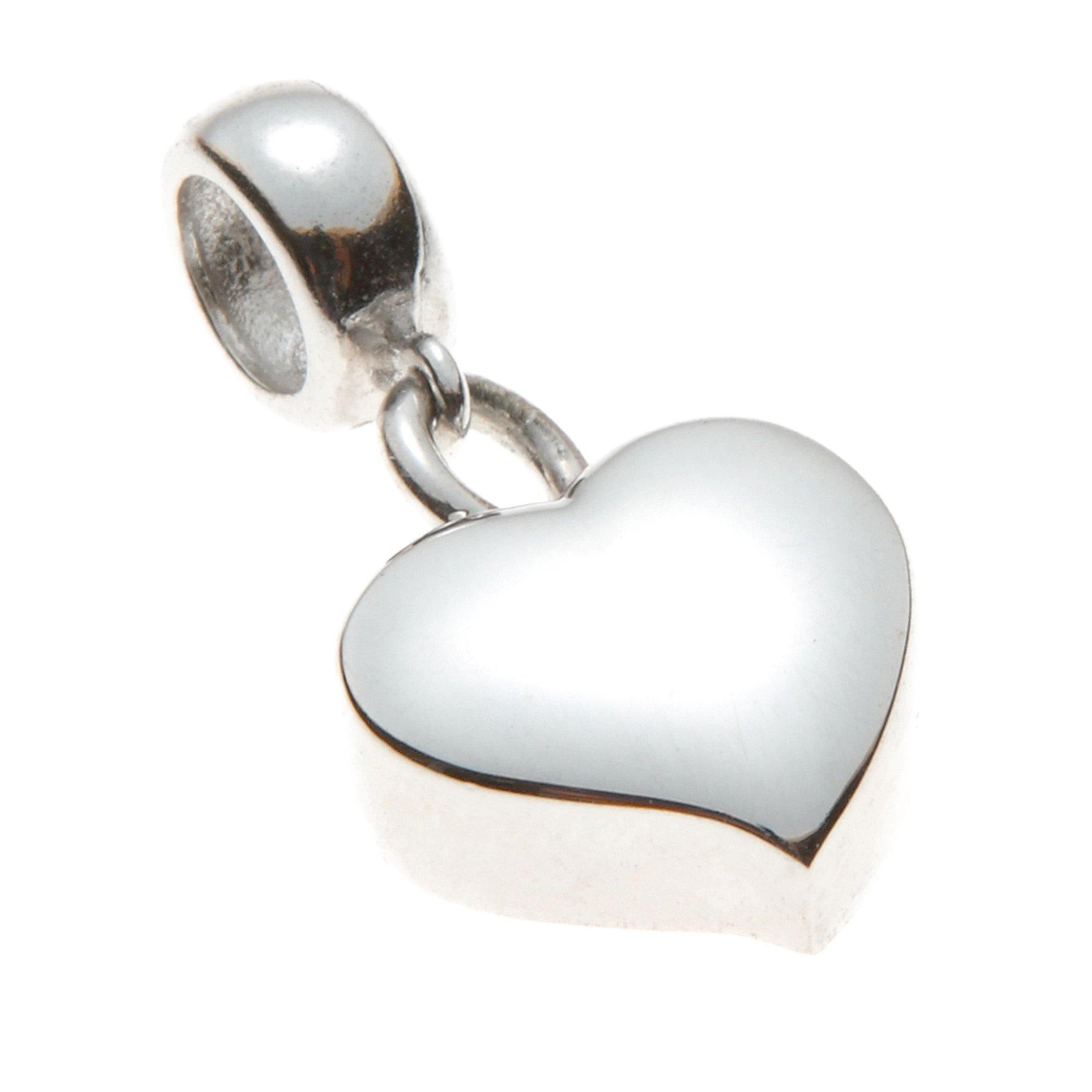 Mayfair Charm Heart Cremation Ashes Pendant 925 Silver - Urns UK