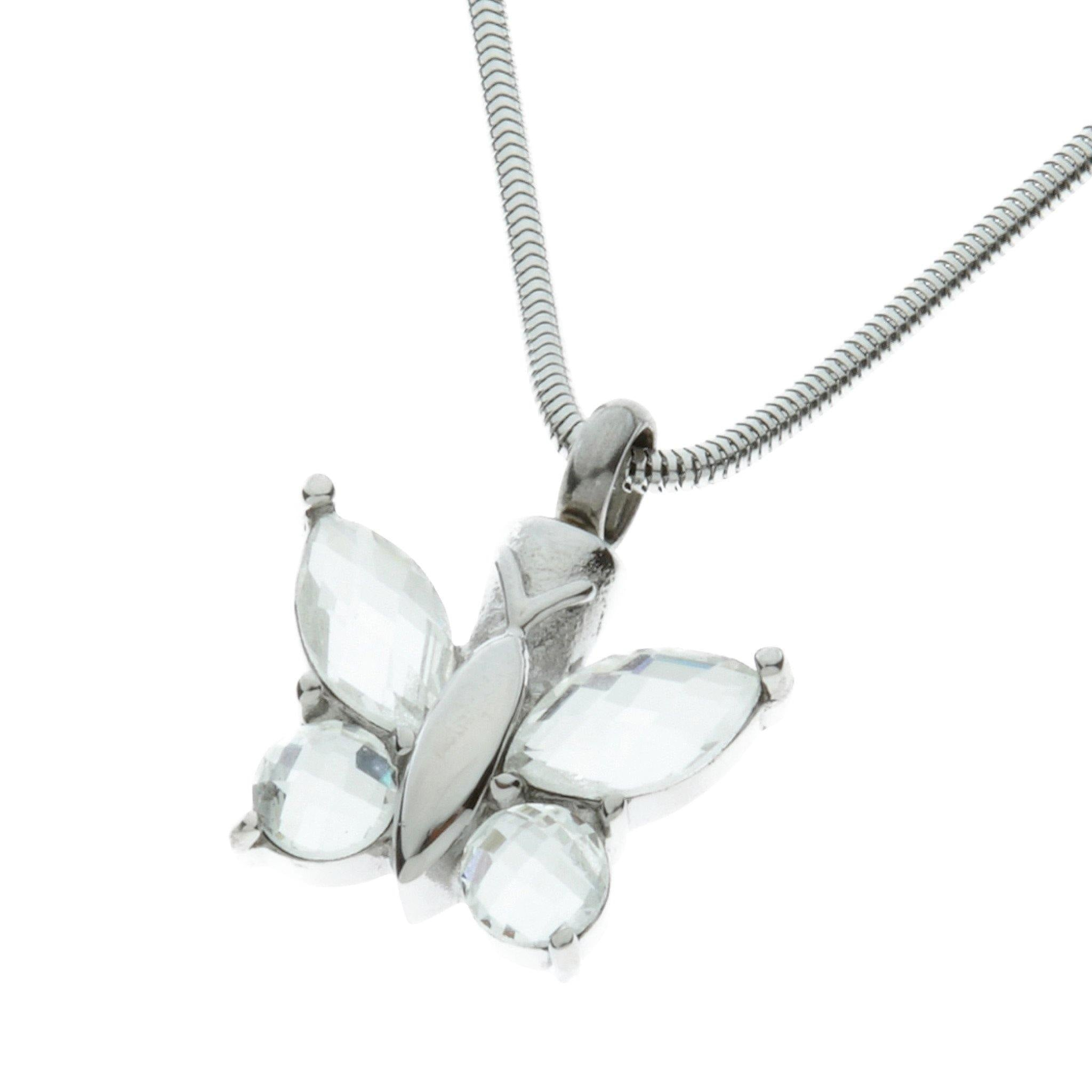 Diamond Butterfly Cremation Ashes Pendant Design 56 - Urns UK