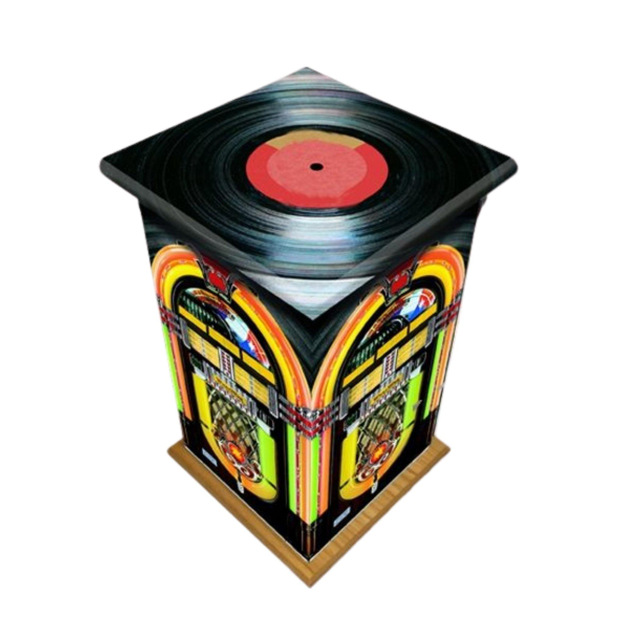 Vinyl Jukebox Wooden Cremation Ashes Urn Adult - Urns UK