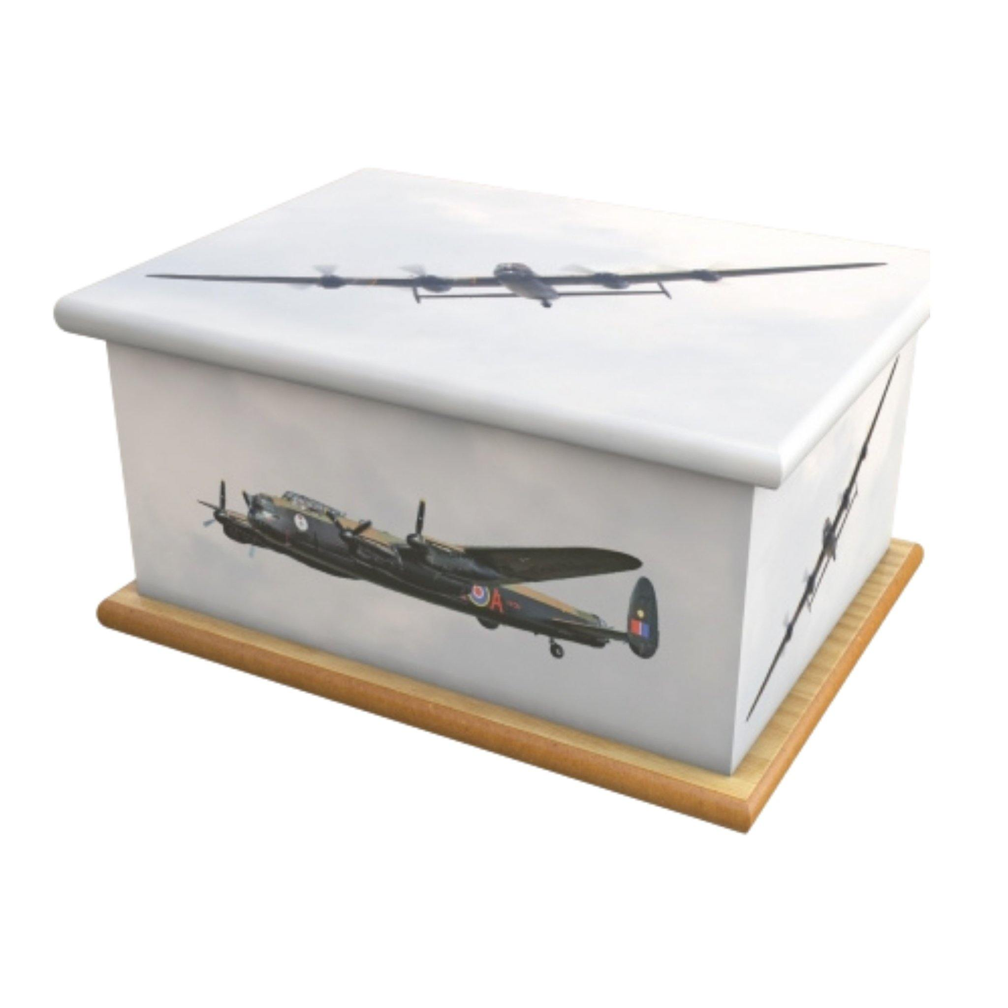 Wooden Urn Bomber Boys Adult - Urns UK