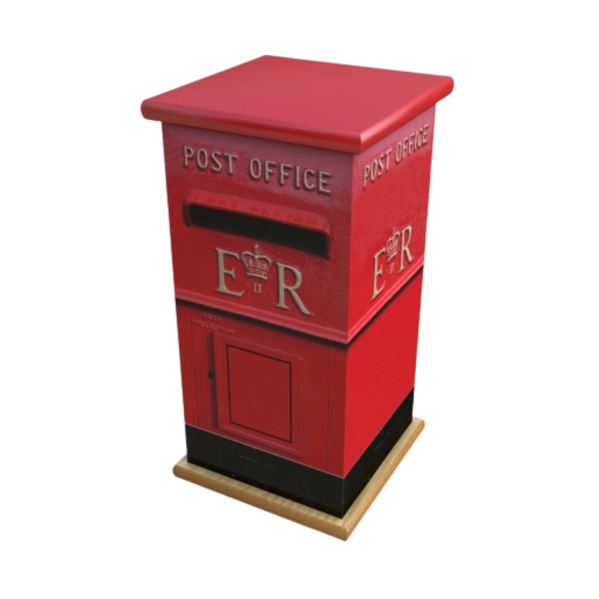 Wooden Urn Postbox Adult - Urns UK