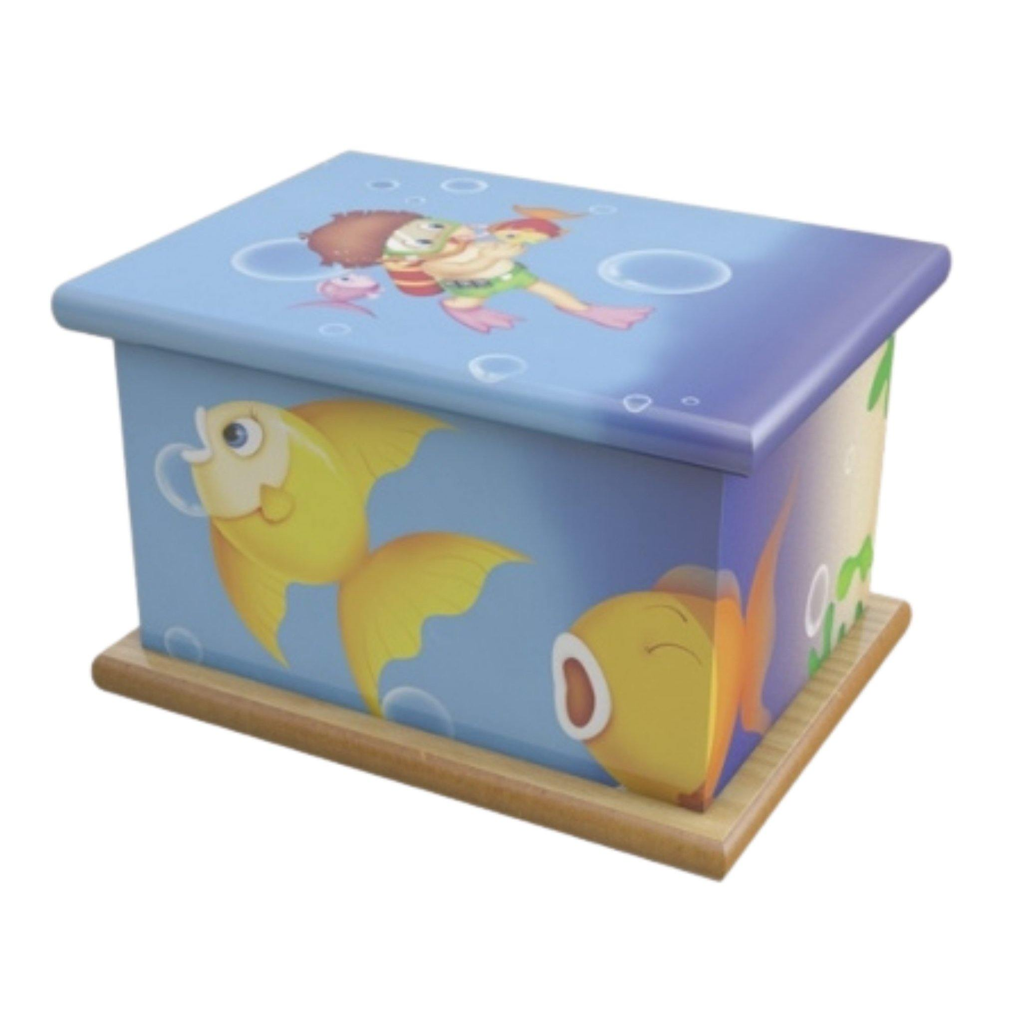 Wooden Urn Bubbles Child - Urns UK