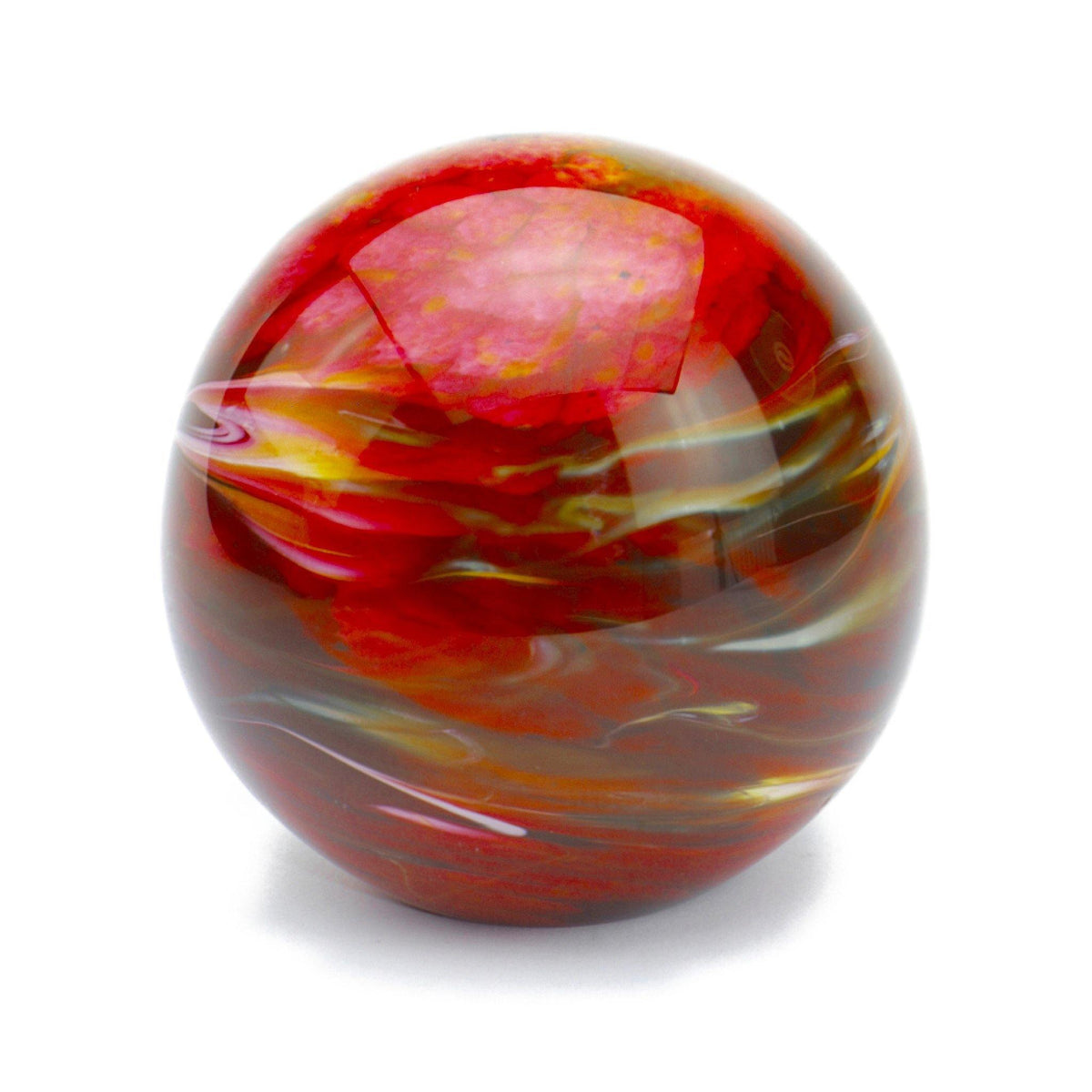 Malton Marble Red Glass Cremation Ashes Urn - Urns UK