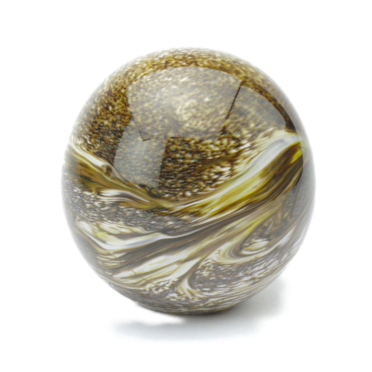 Malton Marble Brown Glass Cremation Ashes Urn - Urns UK