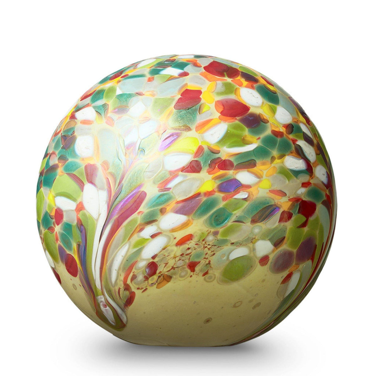 Malton Flowers Glass Cremation Ashes Urn - Urns UK