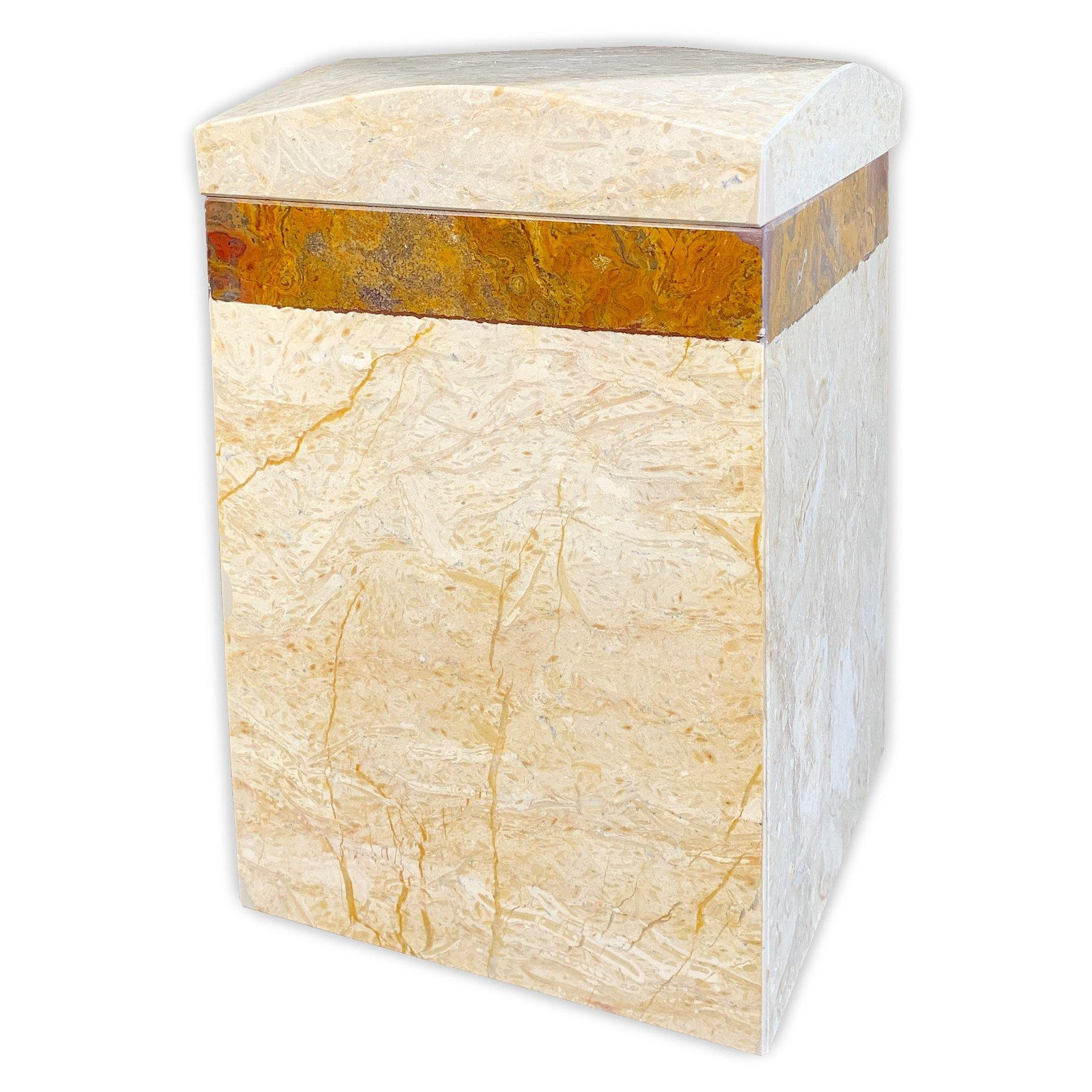 Marble Cremation Ashes Urn Exeter Design 7 - Urns UK
