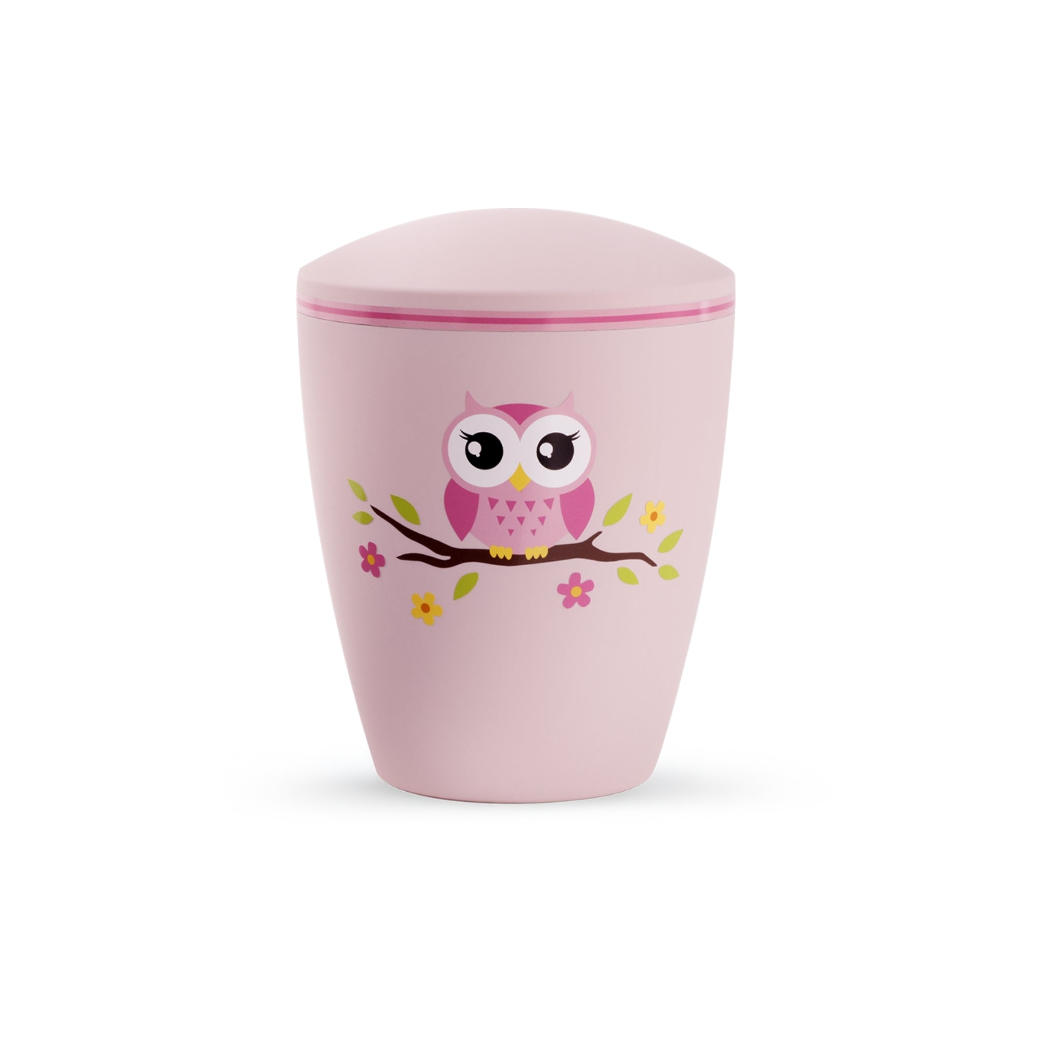 Eco Friendly Childrens Cremation Ashes Urn Pink Owl