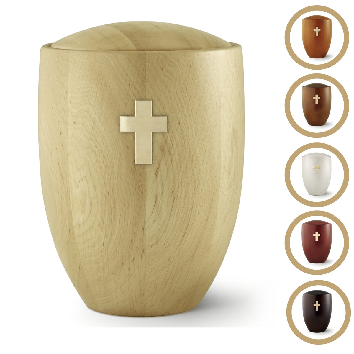 Verwood Cross Solid Wood Cremation Ashes Urn Range