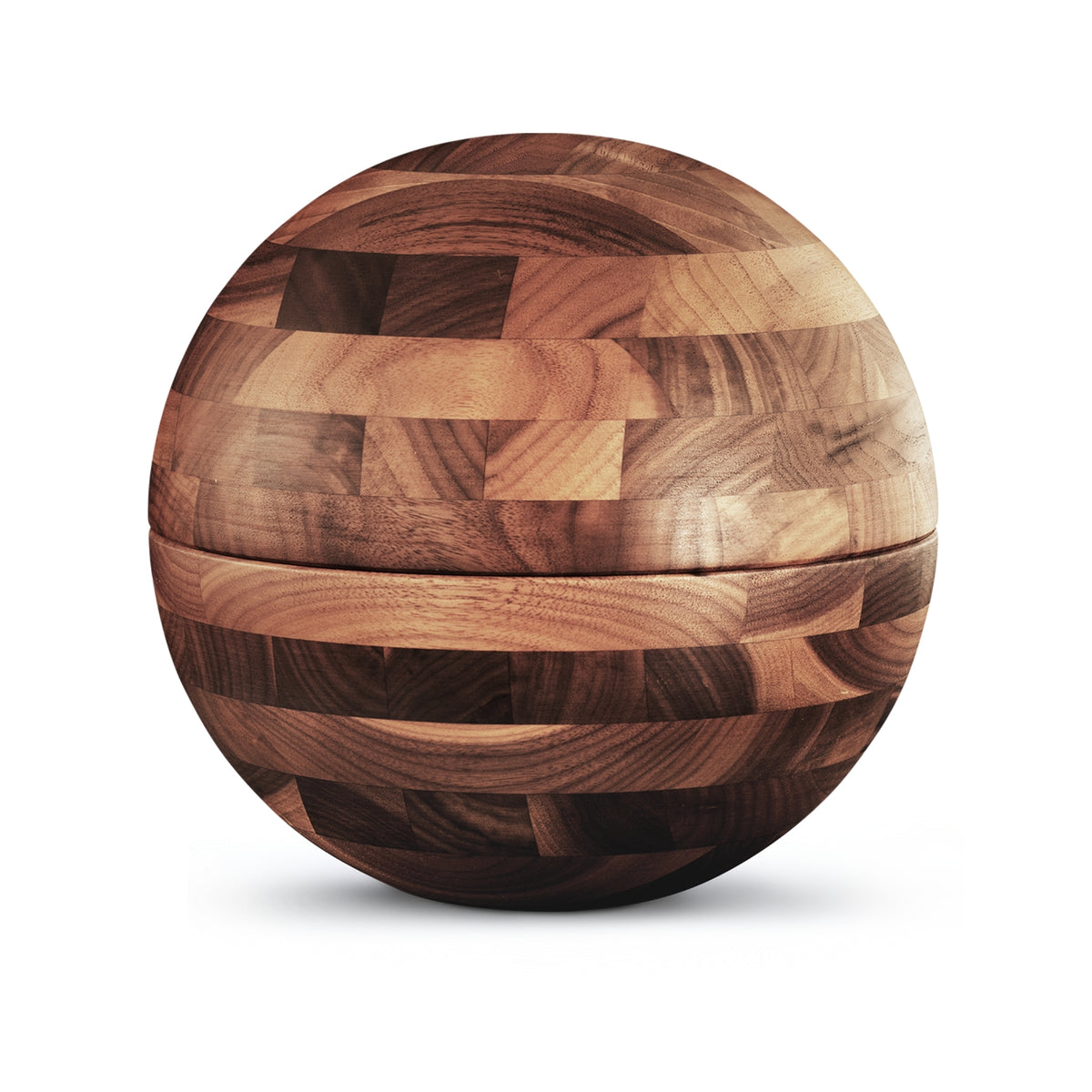 Roundwood Sphere  Cremation Ashes Urn Walnut