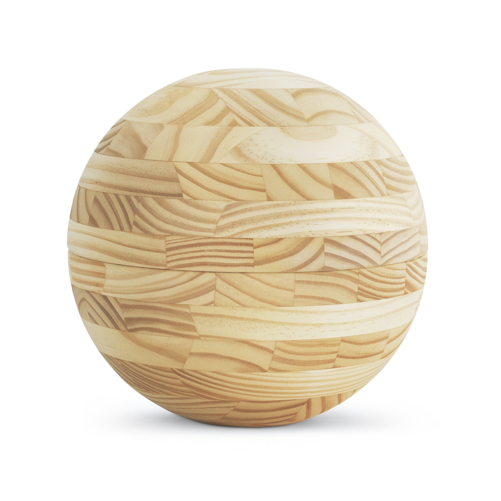 Roundwood Sphere  Cremation Ashes Urn Pine