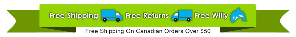 Free Shipping, Free Returns, Free Willy - Free Shipping on Canadian Orders Over $50
