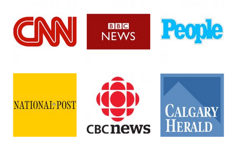 CNN, BBC News, People, National-Post, CBC News, Calgary Herald