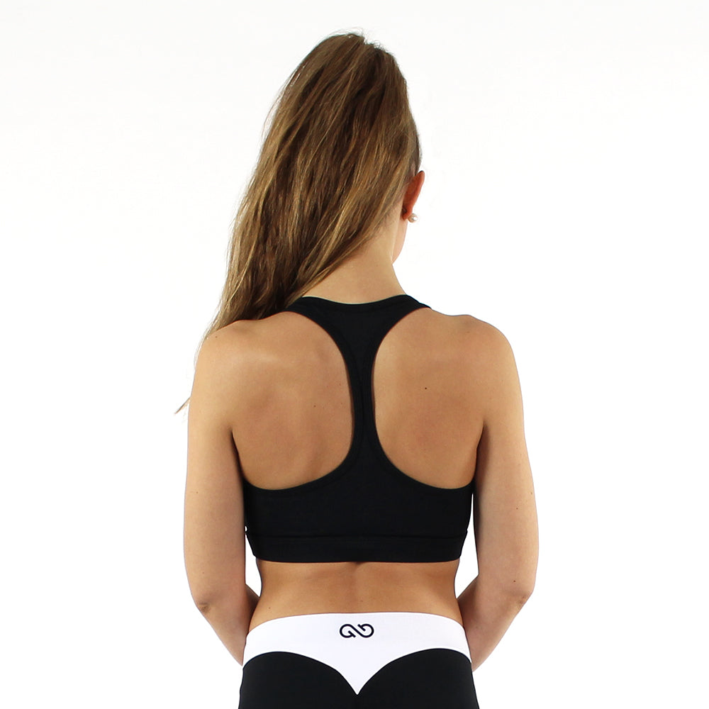 GYMSTYLE - Black Confidence - Gym Bra - Fitness Bra - Back