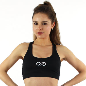 GYMSTYLE - Black Confidence - Gym Bra - Fitness Bra - Front
