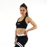 GYMSTYLE - Black Confidence - Gym Bra - Fitness Bra - Pose 2