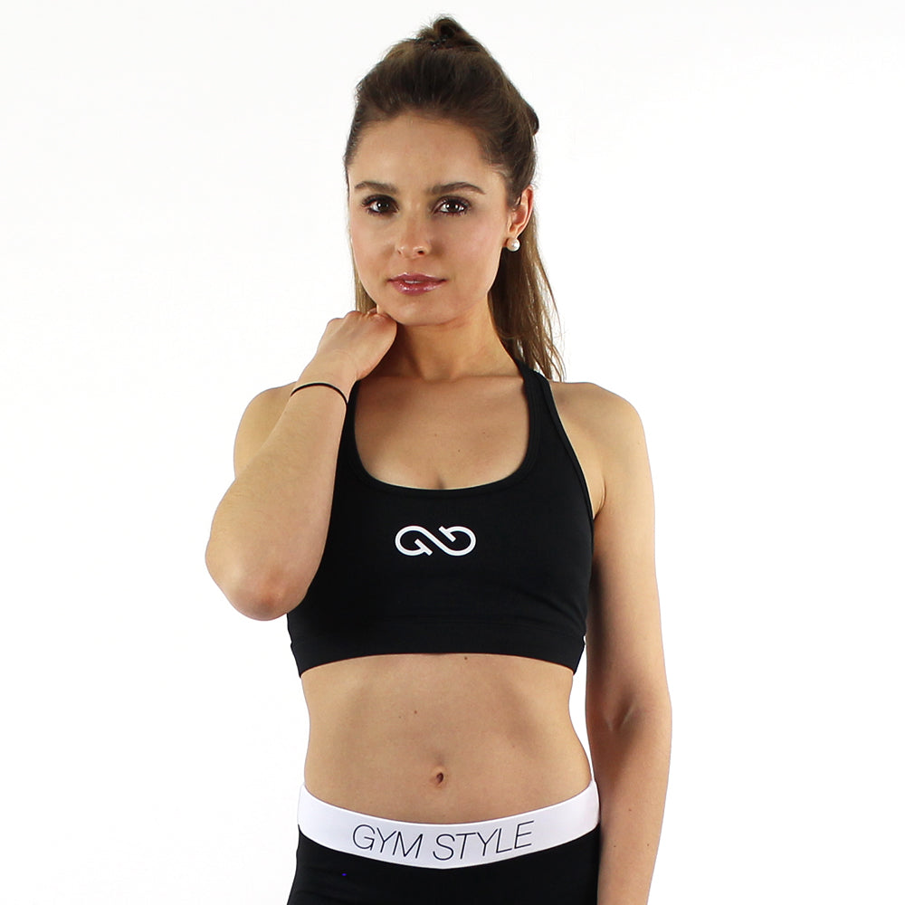 GYMSTYLE - Black Confidence - Gym Bra - Fitness Bra - Pose 3