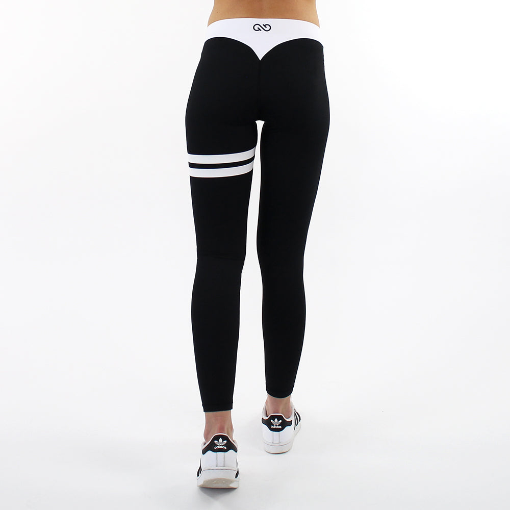 GYMSTYLE - Black Confidence - Gym Leggings - walk back