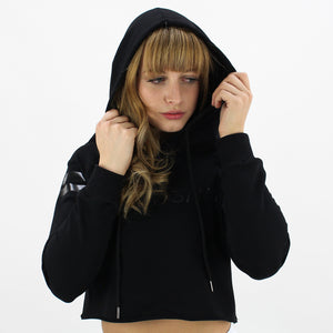 GYM STYLE - Cropped Hoody - Black - Over Hair 2