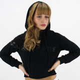 GYM STYLE - Cropped Hoody - Black - Over Hair