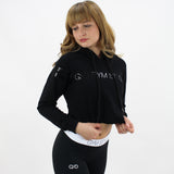 GYM STYLE - Cropped Hoody - Black - pose3