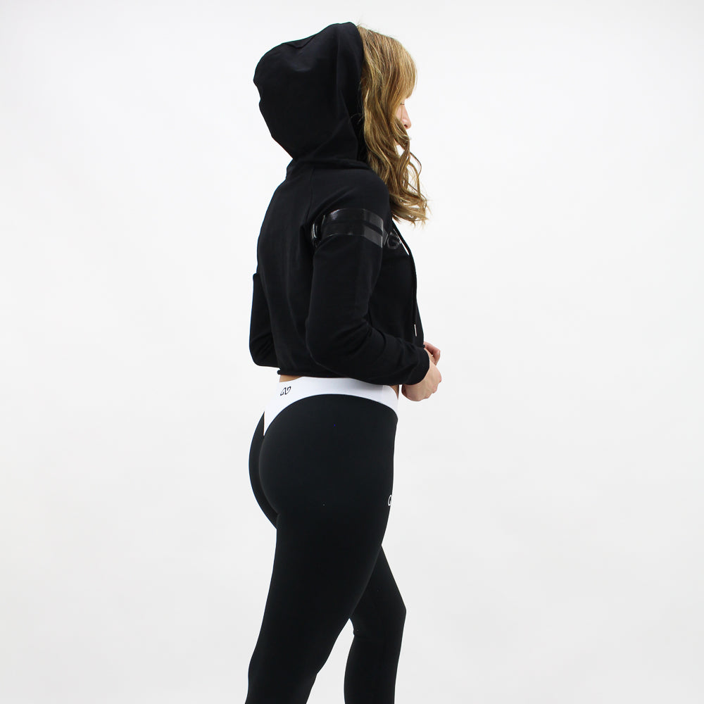 GYM STYLE - Cropped Hoody - Black - sideview