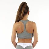 GYMSTYLE - Mint Grey Confidence - Gym Bra - Fitness Bra - Pose