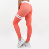 GYMSTYLE-Shiny_Coral-Leggings-Diagonal_Back