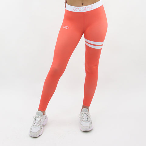 GYMSTYLE-Shiny_Coral-Leggings-Front