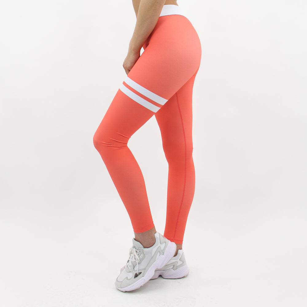 GYMSTYLE-Shiny_Coral-Leggings-Left