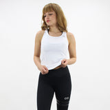 GYMSTYLE - White Swan - Fitness Top - Workout Top - Front