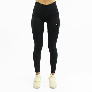 GYMSYTLE - Black Infinity - Gym Leggings - front
