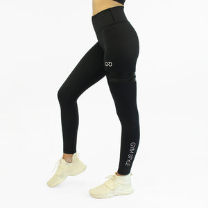 GYMSYTLE - Black Infinity - Gym Leggings - left