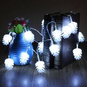 Pine Cone LED Lights for Christmas