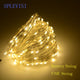 SPLEVISI 2M 3M 5M 10M USB Powered / Battery Powered Silver led string fairy lights garland Party Christmas Tree Decoration Light
