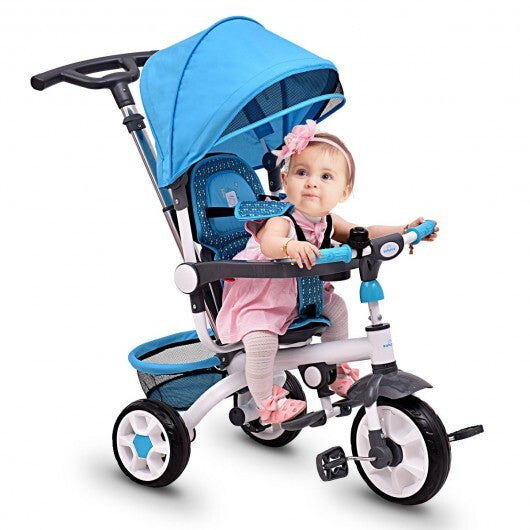 Baby Tricycle With Safety Double Rotatable Seat - Baby Mega Mall