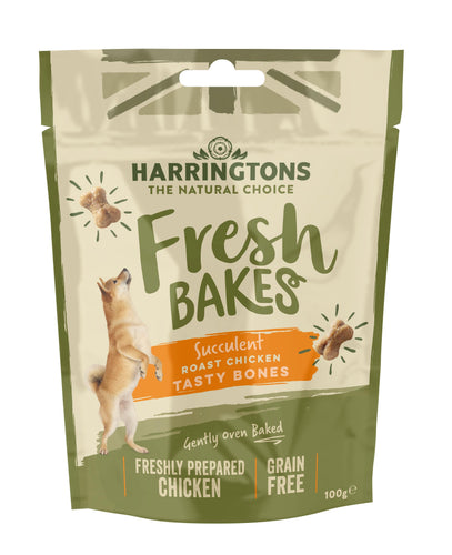 Harringtons Fresh Bakes Chicken Tasty Bones Dog Treats