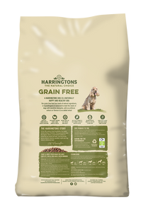 Harringtons Grain Free Dog Food Turkey & Sweet Potato Ingredients